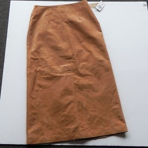 A.M.I Suede Brown Skirt